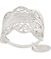 wouters & hendrix engraved shield ring - silver