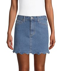 bella high-rise denim mini skirt