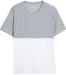 camiseta descanso hombre bloque de color color gris, talla s