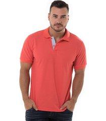 camiseta polo hamer basica para hombre color coral