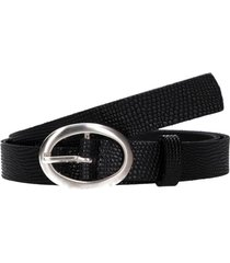 cinturón cuero clásico mujer negro pollini