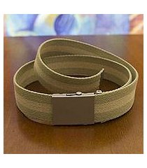 men's cotton belt, 'green beige equilibrium' (brazil)