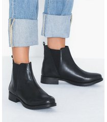 duffy leather chelsea boots flat boots