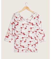 camiseta manga 3/4 escote redondo detalle en espalda