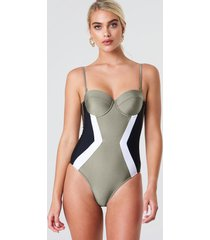 trendyol cupped swimsuit - green