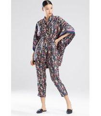 natori tea garden robe, women's, green, size s natori