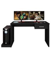 mesa para computador notebook desk game drx 9000 preto - móveis leáo