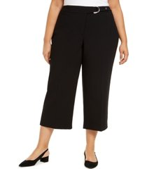 alfani plus size belted hardware-detail culotte pants, created for macy's