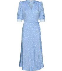 jessie jurk knielengte blauw custommade