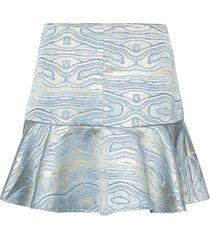 moire skirt kort kjol blå maud
