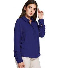 camisa básica botonera invisible azul nicopoly