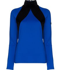bogner two-tone compression top - blue