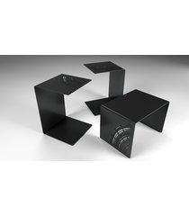 nowoczesny metalowy stolik, stolik nocny,