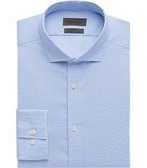 calvin klein infinite blue check slim fit dress shirt