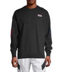 puma men's cotton-blend sweatshirt - black - size m