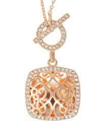with you lockets amelia toggle locket necklace with swarovski crystals in 14k yellow gold over sterling silver (also available in 14k rose gold over sterling silver)