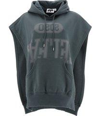 telfar sleeveless hoodie with logo