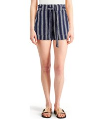 indigo rein juniors' striped tie-waist shorts