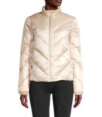 woolrich women's magnolia puffer jacket - black - size m