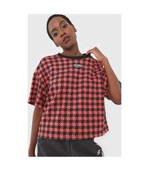 camiseta adidas originals boxy laranja/preto