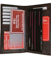 dk red rfid security blocking safe leather wallet checkbook cover id credit card