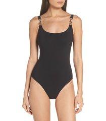 women's tory burch clip tank one-piece swimsuit