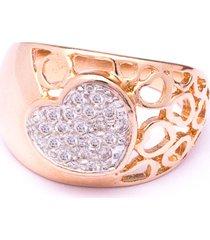 anel boca santa coração mágico - ouro rosê