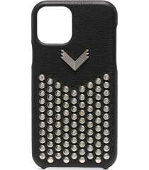 manokhi studded iphone 11 pro case - black
