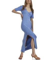 bardot knit maxi dress