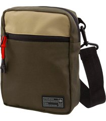 men's hex aspect water resistant canvas crossbody pouch - green