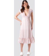 trendyol tulum striped dress - pink,multicolor