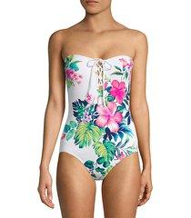 fleur de flora floral one-piece swimsuit