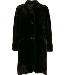 pierre cardin pre-owned 1980's loose teddy bear coat - brown