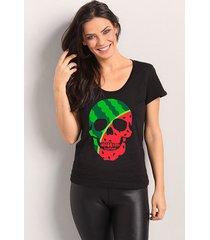 camiseta watermelon skull