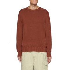 raglan sleeves cotton knit sweater