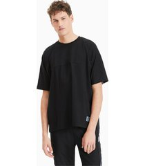 boxy tape t-shirt voor heren, zwart, maat s | puma