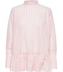 aldina shirt blouse lange mouwen roze by malina