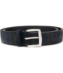 orciani stitched-stripe belt - blue