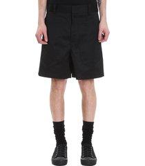 jil sander auriel shorts in black polyester