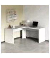 mesa de escritório de canto - branco