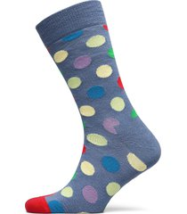 wool big dot sock underwear socks regular socks blå happy socks
