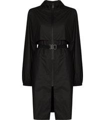 1017 alyx 9sm hooded trench coat - black