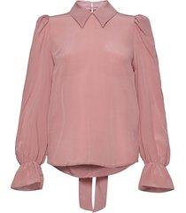 nicole blus långärmad rosa custommade