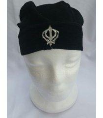 sikh punjabi turban patka pathka singh khanda bandana head wrap black colour