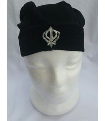 sikh punjabi turban patka pathka singh khanda bandana head wrap black colour