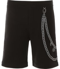alexander mcqueen shorts with embroidery