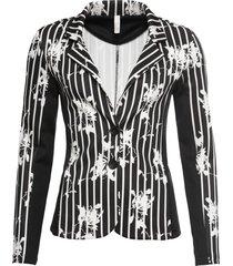 blazer a righe (nero) - bodyflirt boutique