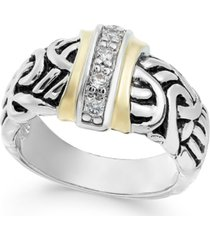 charter club two-tone pave vintage-inspired ring, created for macy's