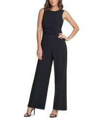 vince camuto o-ring wide-leg jumpsuit