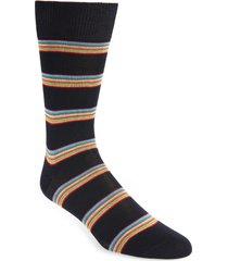 men's paul smith multi stripe socks, size one size - blue